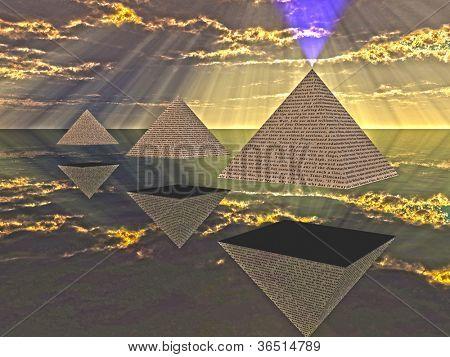 Triad of floating Pyramids