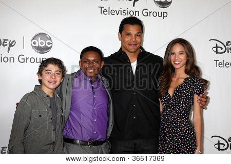 LOS ANGELES - AUGUST 1:  Ryan Ochoa, Doc Shaw, Geno Segers, & Kelsey Chow arrive(s) at the 2010 ABC Summer Press Tour Party at Beverly Hilton Hotel on August 1, 2010 in Beverly Hills, CA.