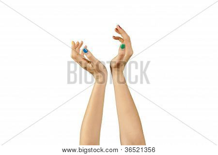 Beautiful Woman Hands With Manicure