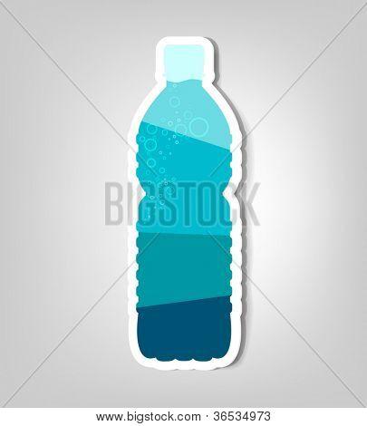 bottle of water. vector poster