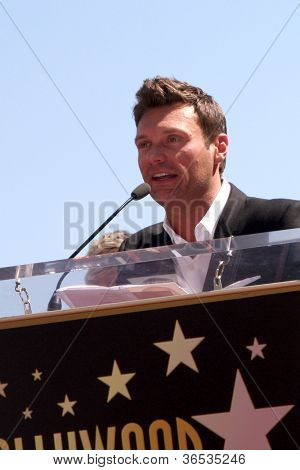 LOS ANGELES - SEP 4:  Ryan Seacrest at the Hollywood Walk of Fame Ceremony for Ellen Degeneres at W Hollywood on September 4, 2012 in Los Angeles, CA