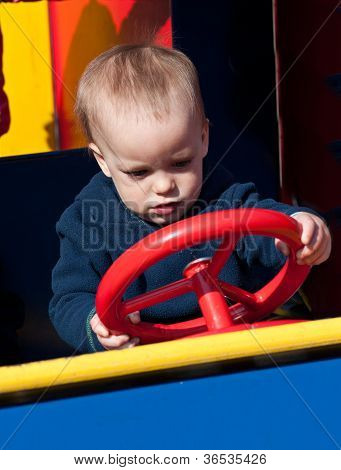 Child on playground