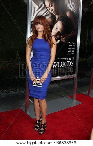 LOS ANGELES - SEP 4:  Debby Ryan arrives at