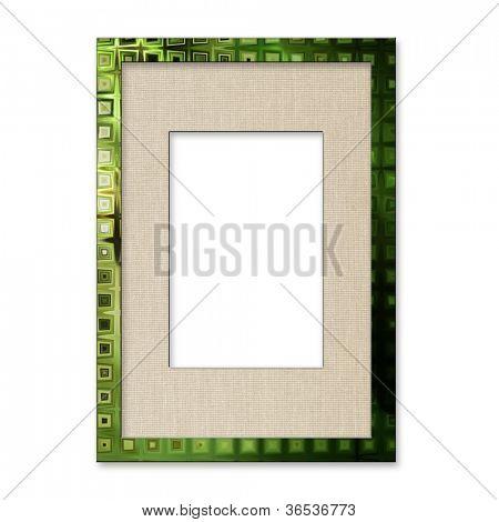 art photo frame, isolated on white background