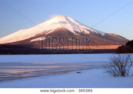 Mount Fuji In Winter Ii