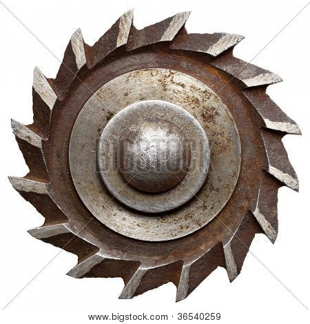 Circular saw blade, isolated