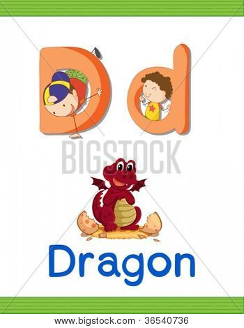 Illustrated alphabet letter and object