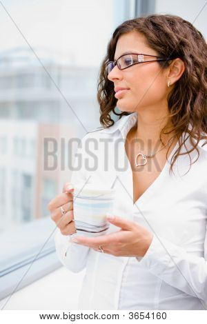 Businesswomen With Coffee Cup