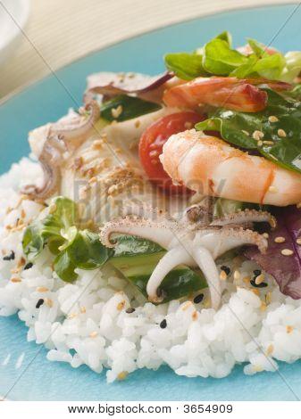 Seafood Sushi Salad