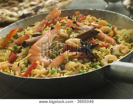 Prawn And Vegetable Biryani