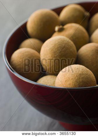 Longan In Wooden Bowl