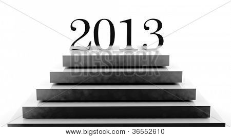 New year 2013 on a podium