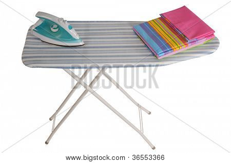 Ironing board. Isolated over white background.