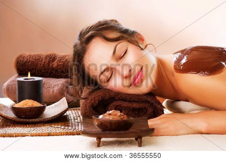 Spa Chocolate Mask. Luxury Spa Treatment . Dayspa