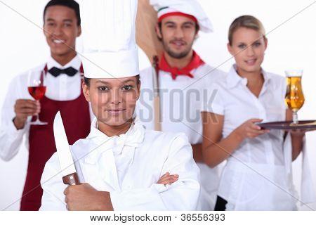 Restaurantmitarbeiter