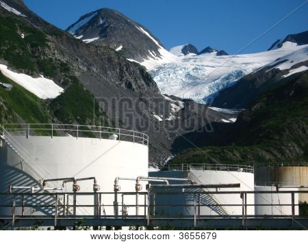 Storage Tanks And Glaciers