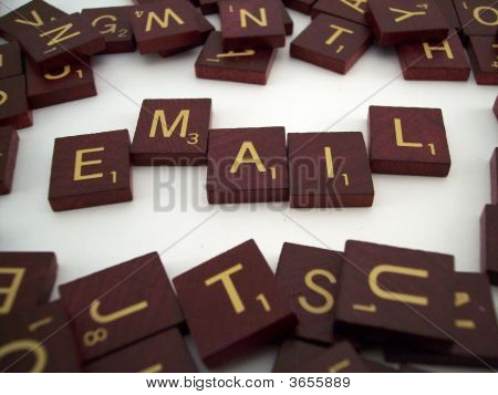 Azulejos de la carta de correo electrónico
