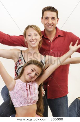 Happy Family Arms Up