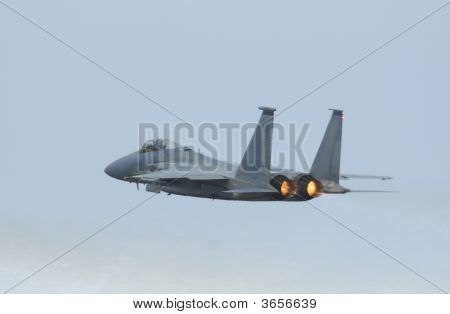 Jet Fighter F-15 Eagle In Airshow