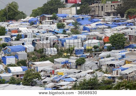Tent Cities in Haiti.