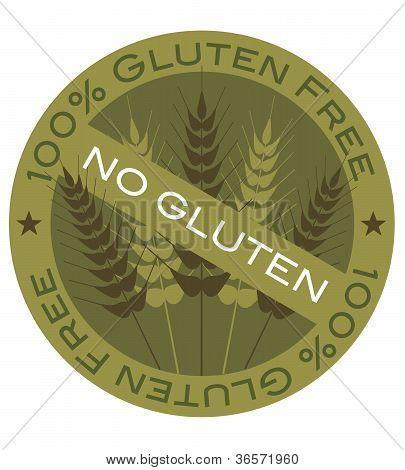 Wheat Stalk 100% Gluten Free Label