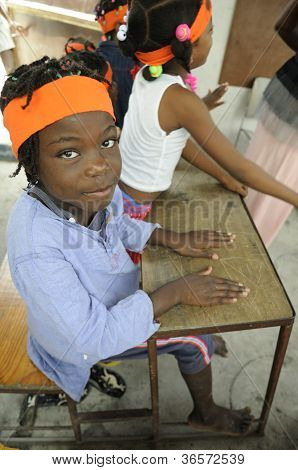 Escola em Cite Soleil, no Haiti.