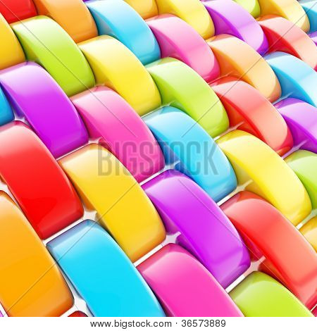 Abstract Background Made Of Glossy Squama Scale