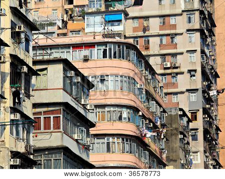 old apartment building in Hong Kong