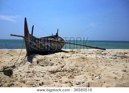 boats restaing in the Mpu Rancak beach