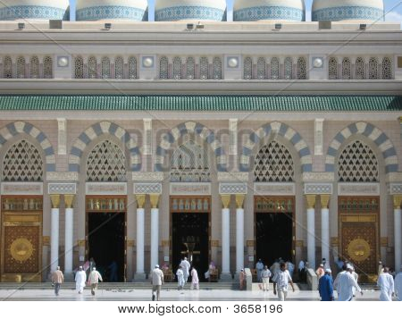 Main Entrance To The Prophet's Mosque - Madinah, Saudi Arabia
