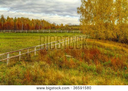 The Hdr Image Of The Empty Autumn Levade
