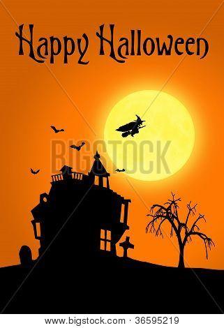 Halloween Silhouette Landscape