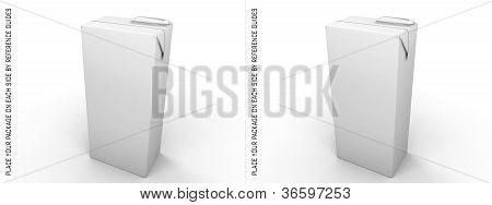 3D Brick Package With Stereoscopic Vision . Stereo Pair