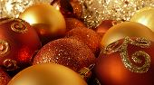 Orange, Red & Gold Christmas Balls