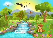 picture of bird paradise  - romantic landscape - JPG