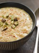 Saffron Pistachio And Coconut Rice Pudding