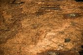 stock photo of shale  - Background texture of earthy colored shale stone - JPG