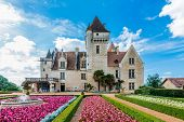 stock photo of chateau  - Chateau des milandes who belong to josephine baker in dordogne perigord France - JPG