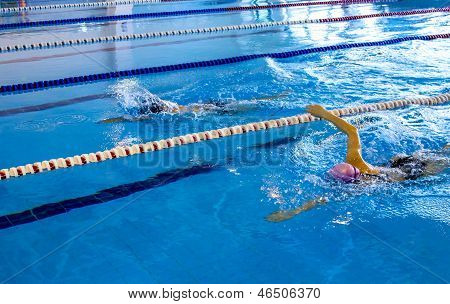Two Young Person Swimming