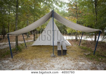Tent With Benches