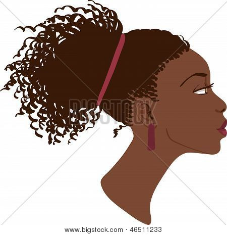Vector portrait of beautiful women profile