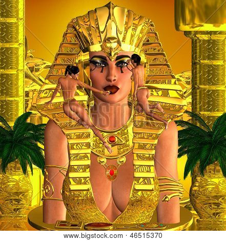 Face Of The Pharaoh Queen