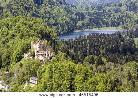 Hohenschwangau Castle In The Distance