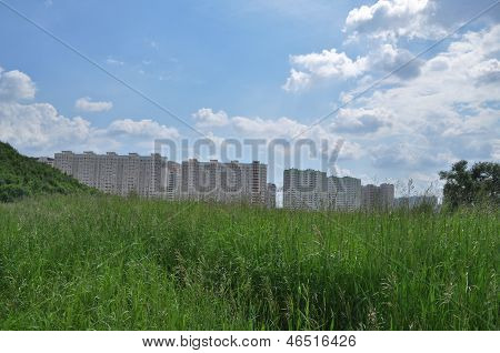 New Buildings On The Outskirts Of Moscow.