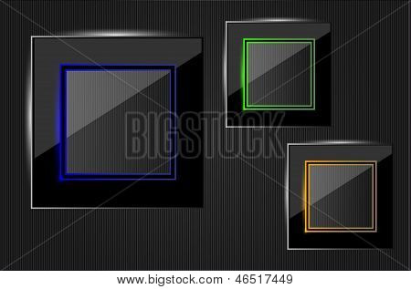 Beautiful Vector Glass Frame