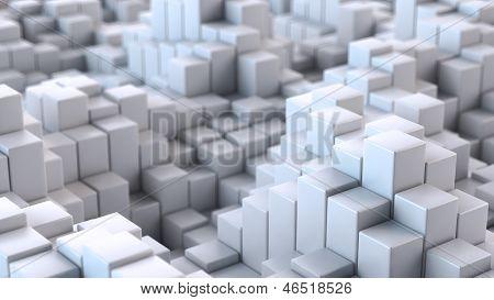 Blanca textura convexa