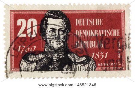 Prussian Field Marshal August Neidhardt Von Gneisenau Portrait