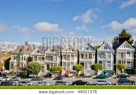 San Francisco, Usa - November 1, 2012: Painted Ladies In San Francisco On November 1St, 2012. It Is