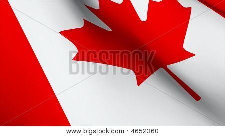 3D Rendered Flag Of Canada