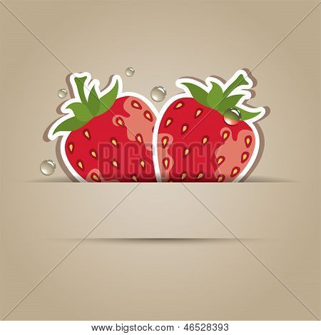 Card With  Strawberries
